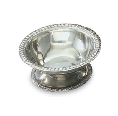 Vollrath 48303 3-1/2-oz Sherbet Dish - Gadroon Top and Base, Silver