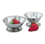 Vollrath 48315 5-oz Sherbet Dish - Paneled and Scalloped Top, Silverplated
