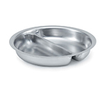 Vollrath 49334 4.2-qt Round Chafer Divided Food Pan - Stainless