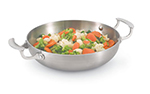 "Vollrath 49424 10"" French Omelet Pan - Aluminum Bottom, 18-ga Stainless"