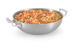 "Vollrath 49428 13"" Stir-Fry Pan - Aluminum Bottom, 18-ga Stainless"