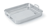 Vollrath 49433 4.6-qt Large Food Pan with Handles - Aluminum Bottom, 18-ga Stainless