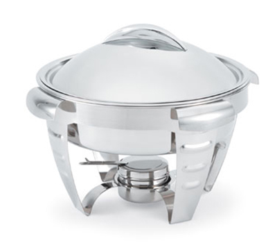 Vollrath 49522 6-qt Round Chafer - Mirror-Finish Stainless