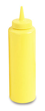 Vollrath 52065 12-oz Squeeze Bottle - Slim, Yellow Plastic