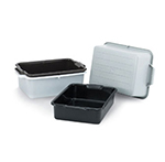 "Vollrath 52661 Heavy-Duty Bus Box - 20x15x7"" Gray"