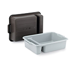 "Vollrath 52632 Heavy-Duty Bus Box - 2-Compartment, 23x17-1/2x6"" Gray"