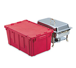"Vollrath 52645 Tote 'N Store Chafer Box - 25-1/8x15-1/2x11-5/8"" Red"