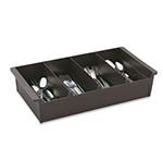 Vollrath 52652 Cutlery Dispenser - 4-Compartment, Dark Brown