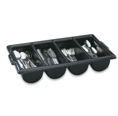 Vollrath 52653 Cutlery Dispenser - 4-Compartment, Black