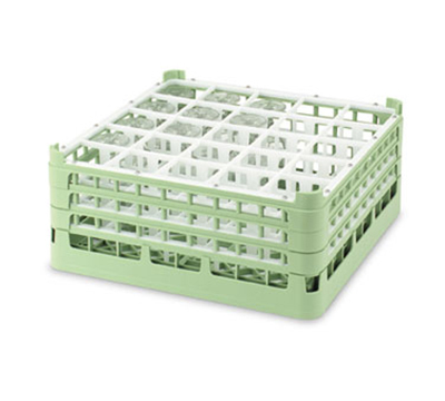 "Vollrath 52733 1 Dishwasher Rack - 25-Compartment, 3X-Tall, Full-Size, 19-3/4x19-3/4"" Green"
