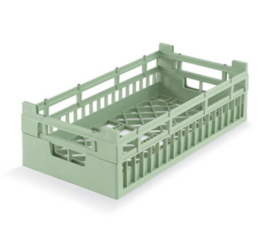 Vollrath 52801 1 Open Dishwasher Rack - Medium, Half-Size, Green
