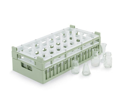 Vollrath 52828 1 Dishwasher Rack - 32 Compartment, Tall, Half-Size, Green