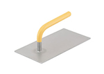 Vollrath 57502 Flat Steak Weight - 1.6-lbs, Yellow Plastic-Coated Handle, Stainless