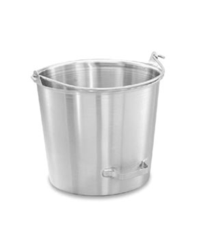 Vollrath 58161 14-3/4-qt Tapered Pail with Side-Tilting Handle - Stainless