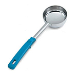 Vollrath 62177 6-oz Solid Spoodle - Teal Poly Handle, Stainless