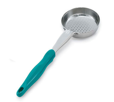 Vollrath 6432655 6-oz Round Perforated Spoodle - Teal Nylon Handle, Heavy-Duty, Stainless
