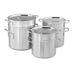 Vollrath 67708 10-qt Aluminum Double-Boiler - 8-1/2-qt Inset with Cover