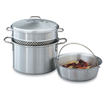 Vollrath 68126 8-qt Pasta Cooker Vegetable Steamer - 4-Piece, 18-ga Aluminum