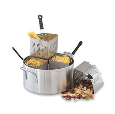 Vollrath 68127 18-1/2-qt Pasta/Vegetable Cooker Set - (4)3-qt Stainless Insets, Aluminum
