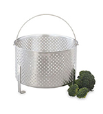 "Vollrath 68288 Footed Steamer Basket - 7"" Deep, Aluminum"