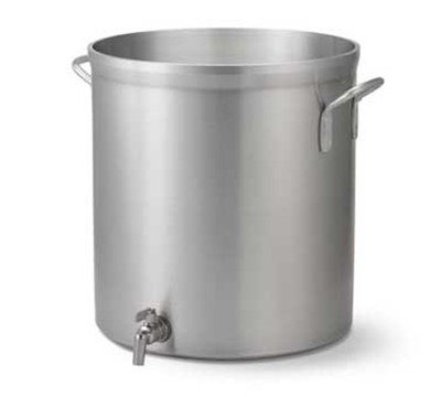 Vollrath 68701 120-qt Stock Pot with Faucet - Heavy-Duty, Natural-Finish Aluminum