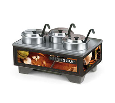 Vollrath 720201002 Full-Size  Soup Merchandiser Base - Tuscan, 4-qt Accessories 120v