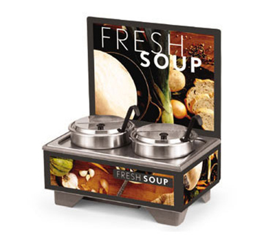 Vollrath 720202102 Full-Size  Soup Merchandiser Base - Tuscan, Menu Board, 7-qt Accessories 120v