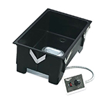 "Vollrath 72107 Drop-In Warmer with Drain - Remote Mount, Thermostat, 21-3/4x13-3/4x9"" 120v"