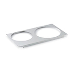 "Vollrath 72227 Adaptor Plate - Full-Size, (1)8-3/8"" (1)10-3/8"" Inset Hole, Stainless"