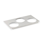 "Vollrath 72228 Adaptor Plate - (3)6-1/2"" Inset Holes, Stainless"
