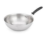 "Vollrath 77754 14"" Stir Fry Pan - Silicone Insulated Handle, Stainless/Aluminum"