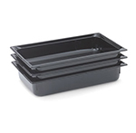 "Vollrath 8002420 Full-Size Food Pan - 2-1/2"" Deep, Low-Temp, Black Poly"