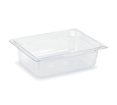 "Vollrath 8024410 Half-Size Food Pan - 4"" Deep, Low-Temp, Clear Poly"