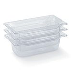 "Vollrath 8046410 1/4 Size Food Pan - 6"" Deep, Low-Temp, Clear Poly"