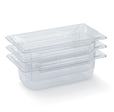 "Vollrath 8032410 1/3 Size Food Pan - 2-1/2"" Deep, Low-Temp, Clear Poly"