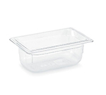 "Vollrath 8044410 1/4 Size Food Pan - 4"" Deep, Low-Temp, Clear Poly"