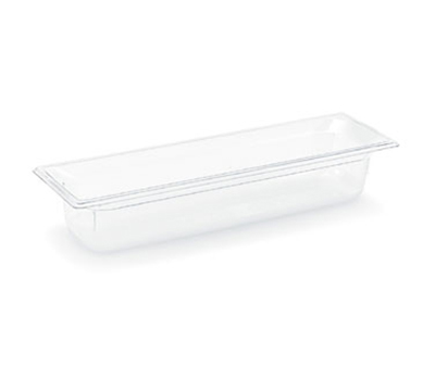 "Vollrath 8052410 Half-Size Long Food Pan - 2-1/2"" Deep, Low-Temp, Clear Poly"