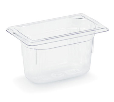 "Vollrath 8092410 1/9 Size Food Pan - 1/9 Size, 2-1/2"" Deep, Low-Temp, Clear Poly"