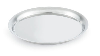 "Vollrath 82007 9-1/2"" Round Tray Cover - 18-ga Stainless"