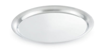 "Vollrath 82009 13-3/4"" Round Tray Cover - 18-ga Stainless"