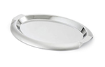"Vollrath 82061 Oval Serving Tray with Handles - 17-5/8x13"" Stainless"