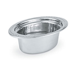 "Vollrath 8230110 3-qt Decorative Oval Pan - 4"" Deep, Mirror-Finish Stainless"