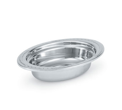 "Vollrath 8230210 2-qt Decorative Oval Pan - 2-1/2"" Deep, Mirror-Finish Stainless"