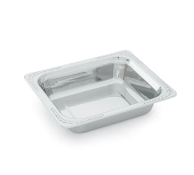 "Vollrath 8230720 3.4-qt Decorative Half Size Rectangular Pan - 2-3/4"" Deep, Stainless"