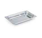 "Vollrath 8231020 2.7-qt Decorative 1/3 Size Rectangular Pan - 13-1/16x7x4"" Stainless"