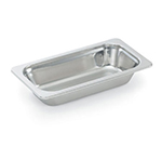 "Vollrath 8231105 1.9-qt Plain 1/3 Size Rectangular Pan - 13-1/16x7x2-1/2"" Stainless"