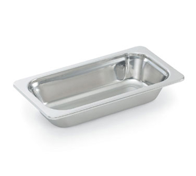 "Vollrath 8262220 Miramar 1/6 Size Decorative Foodpan - 2-1/2"" Deep, Mirror-Finish Stainless"