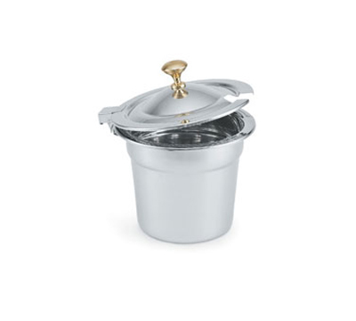 Vollrath 8231220 10-qt Decorative Soup Inset - Mirror-Finish Stainless