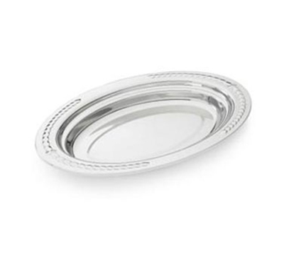 "Vollrath 8231320 5.4-qt Decorative Oval Foodpan - 19-1/16x11-7/8x4"" Mirror-Finish Stainless"