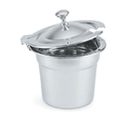 Vollrath 8231610 Hinged Cover for 7-qt Decorative Soup Inset - Chrome Knob, Stainless